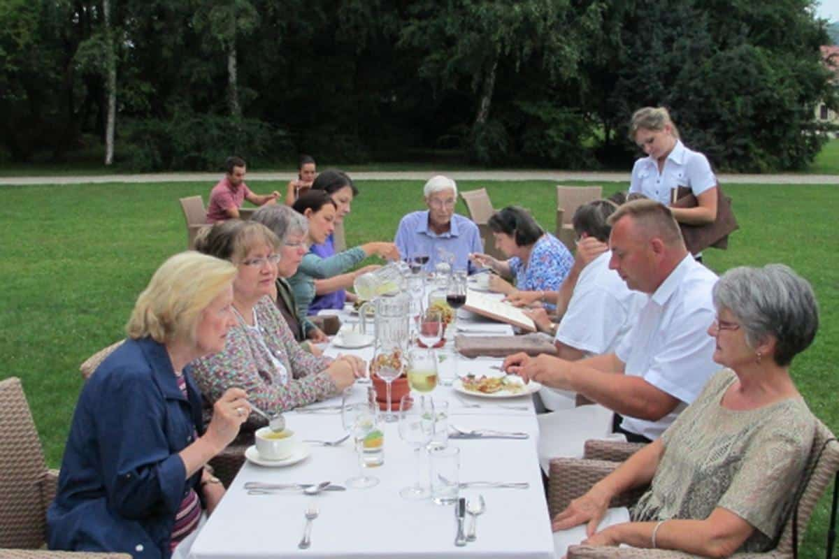 Outdoor dining in Lower Silesia region, Poland