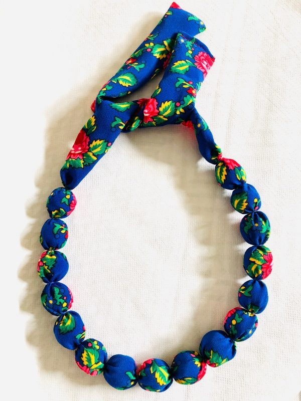 Highlander style fabric necklace