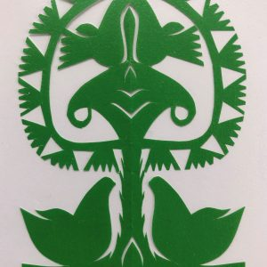 POLISH PAPER CUT-OUT (WYCINANKA) LELUJA - DARK GREEN(1)