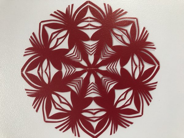 POLISH PAPER CUT-OUT (WYCINANKA) ROUND - RED(1)