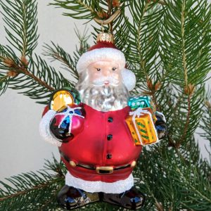 Santa with Christmas presents front